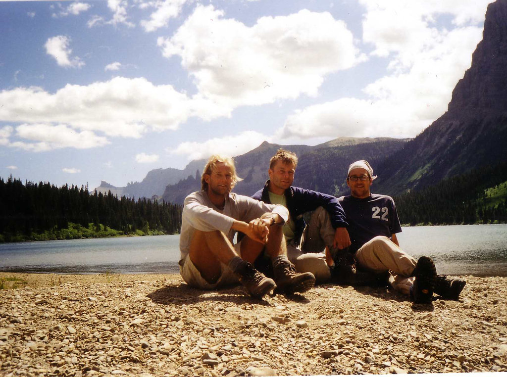 [From left to right - Rasmus, Simon and me | Montana, 2001]